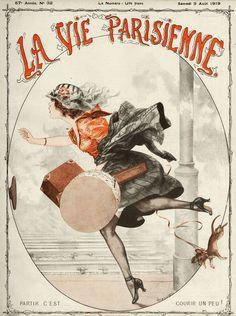 Chéri Hérouard (1881 – 1961). La Vie Parisienne, 9 Août 1919. [Pinned 21-vii-2015]
