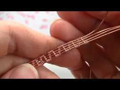 Tutorial Weaving Pattern 4 Base Wires - YouTube