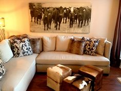Angus Canvas Art | http://www.iometro.com/art/canvas-art/angus #neutral #decor #cow