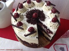 Švarcvaldský dort Mini Cheesecakes, Eclairs, No Bake Cake, Baked Goods, Sweet Recipes, Deserts, Goodies, Food And Drink, Sweets