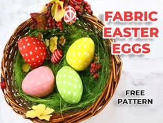 Sewing Patterns Free, Free Sewing, Pattern Sewing, Egg Template, Fabric Book Covers, Recycled Crafts Kids, Easter Egg Pattern, Spring Projects, Easter Projects