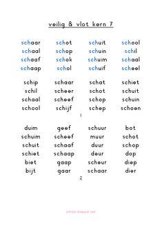 veilig en vlot kern 7.pdf Learn Dutch, Dutch Language, English Literature, Math For Kids, School Hacks, Love My Job, Kids House, Pre School, Kids Learning