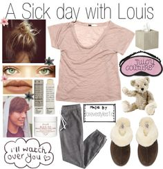 """""""A Sick day with Louis"""" by foreverstyles1d ❤ liked on Polyvore"""