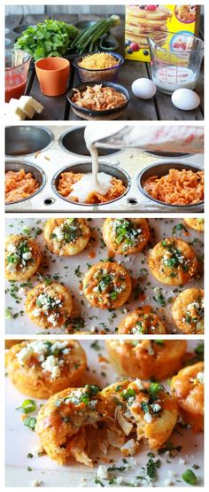 Impossibly Easy Buffalo Chicken Mini Pies - great for game day or an anytime appetizer.