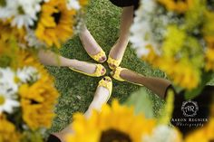 Wedding Details Bridesmaids yellow shoes sunflower Aaron Regnier Photography Green River Golf Course