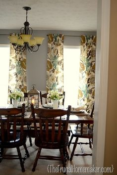 Day 27 Curtains Dining Room After The Frugal Homemaker