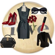 """""""True Winter"""" by elliemaewinter on Polyvore Love this combo perhaps for a fundraising dinner"""