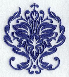 Dainty Floral Damask 1 design (E4082) from www.Emblibrary.com
