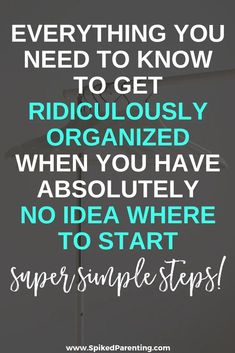 How to Get Organized When You Don't Know Where to Start, Home Organization declutter, Deep Cleaning Tips, House Cleaning Tips, Spring Cleaning, Cleaning Hacks, Cleaning Products, Green Cleaning, Declutter Your Home, Organize Your Life, Organizing Your Home
