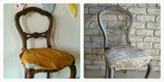 Restyled Vintage: French Script Chair