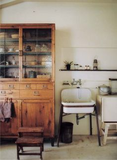 Truck Furniture Japan {industrial rustic modern bathroom} by recent settlers, via Flickr