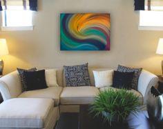 Remolino del arco iris sirena la pintura abstracta por StudioKWN