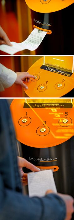 Short Edition: A Short Story Vending Machine that Prints Free Stories On-Demand