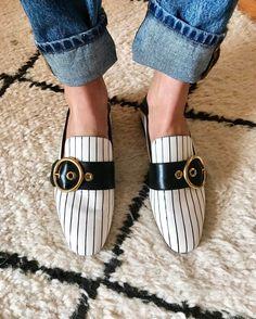 Pandora Sykes wears Bally shoes