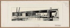 Finney guest house, Siesta Key, Florida (project). Entrance front. Perspective. Rendering.   Paul Rudolph & His Architecture