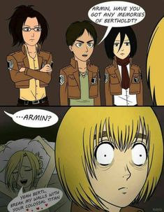 How Armin knew the identity of the colossal titan
