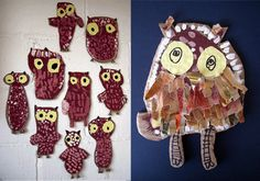 These adorable glow in the dark owls are made by Cristina Moreno with cardboard and paint that glows in the dark. Art For Kids, Crafts For Kids, Kid Art, Owl Crafts, Dream Big, Owls, The Darkest, Art Projects, Glow