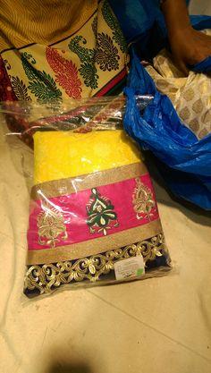 My yellow/pink/gold mehendi/sangeet lengha