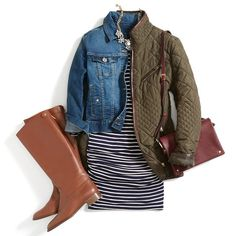 Take a summer look into winter with the addition of tall boots, denim & a quilted jacket. Love this look? Schedule a Fix for personalized pieces & styling tips like these.: