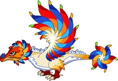 The Firework Dragon can be bred by using any two dragons, in either order, containing the Fire and Air elements at the Breeding Cave/Epic Breeding Island. Dragon C, Beautiful Dragon, Fireworks, Habitats, Rooster, Disney Characters, Fictional Characters, Wings, Fairy