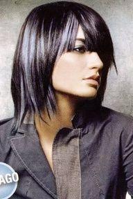 silver highlights on dark hair