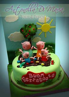 Antonella Di Maria TorteandDesign Peppa Pig, Fondant, Barn Cake, Movie Cakes, Funky Art, Fashion Cakes, Girl Cakes, Edible Art, Cute Cakes