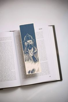 Fahrenheit 451 Bokmarks by Bookmarklovers on Etsy Classic Literature, Classic Books, Paper Bookmarks, Fahrenheit 451, Book Markers, Teaching, Illustration, Etsy, Art