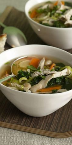 Chicken and White Bean Soup with Greens