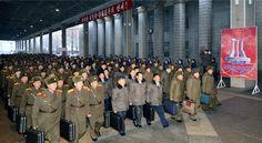 제1차 전당초급당위원장대회 참가자들 평양 도착-《조선의 오늘》