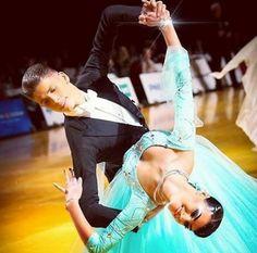Ballroom Dance---i love the colour of her dress