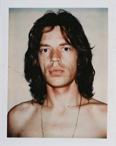 Mick Jagger polaroid by Andy Warhol.