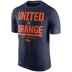 d1bc3661f Men's Nike Navy Blue Denver Broncos Local Legend Verbiage Performance T- Shirt