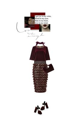 """""""hate in my heart, love in my mind"""" by sherazade ❤ liked on Polyvore featuring Burberry, River Island, Lanvin, Prada and Donald J Pliner"""