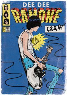 Punk Rock em Quadrinhos on BehanceYou can find Punk rock and more on our website.Punk Rock em Quadrinhos on Behance Punk Art, Ramones, Gig Poster, Album Design, Comic Books Art, Comic Book Superheroes, Chicas Punk Rock, Rock And Roll, Rock Vintage