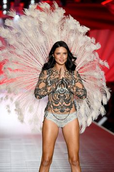 98b25d39bff Adriana Lima walks the runway during the 2018 Victoria s Secret.