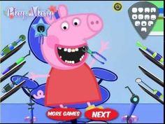Игра Лечим зубы Свинке пеппы или Свинка пеппа у дантиста