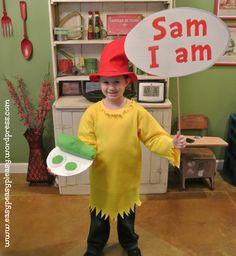 Dr. Seuss Sam I am costume sign