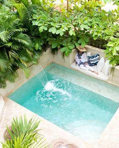 Small Swimming Pools, Small Pools, Swimming Pools Backyard, Swimming Pool Designs, Pool Landscaping, Backyard Pool Designs, Small Backyard Pools, Outdoor Pool, Backyard Ideas