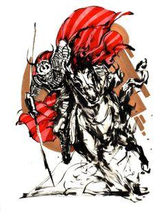 Samurai Red Copper 1 by Kekai Kotaki - INPRNT