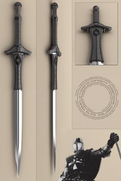 dark templar sword - Godfrey by peterku on DeviantArt Fantasy Sword, Fantasy Armor, Fantasy Weapons, Anime Weapons, Swords And Daggers, Knives And Swords, Cool Swords, Sword Design, Medieval Weapons