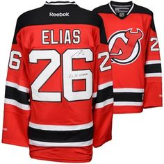Autographed New Jersey Devils Patrik Elias Fanatics Authentic Red Reebok  Premier Jersey with 2X SC Champs Inscription 452e74bb3