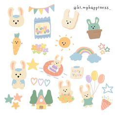 Stickers Kawaii, Pop Stickers, Printable Stickers, Tumblr Stickers, Korean Stickers, Mini Drawings, Kawaii Drawings, Cute Doodles, Journal Stickers
