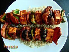 BBQ no nut tofu skewers vegetarianmamma.com #EZTofuPress