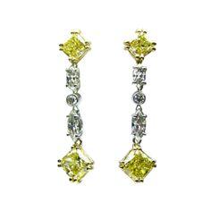 Radiant Diamond Line Earrings #jbirnbach