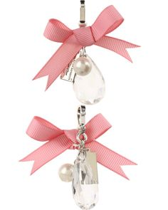 """Brighton / My Flat In London """"The Droplet"""" Charm + (pink/silver)"""