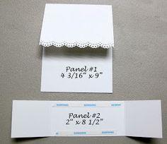 double dutch fold card template / double z fold card template ; 3d Templates, Card Making Templates, Card Making Tips, Card Making Techniques, Fun Fold Cards, Pop Up Cards, Folded Cards, Tarjetas Pop Up, Shaped Cards