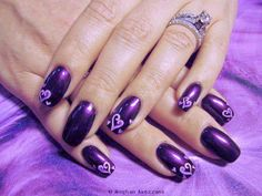 Open hearts - Nail Art Gallery
