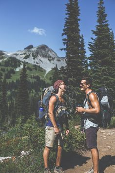 man-and-camera:  Jayme (left) and I (right) laughing that we forgot to pack enough food. Oh well, the best thing you can pack on a trip is g...
