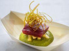 Tapa de Restaurante Pradillo en Zahara de los Atunes, en la VIII Edición de la Ruta del Atún 2016. http://restaurantes-zahara.com/viii-ruta-del-atun-2016/