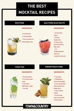 The Best Mocktail Recipes - TownandCountrymag.com